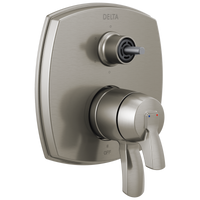 Delta Stryke T27976-SSLHP 17 Series Integrated Diverter Trim with Six Function Diverter Less Diverter Handle Stainless-Tub / Shower-HomePlumbing