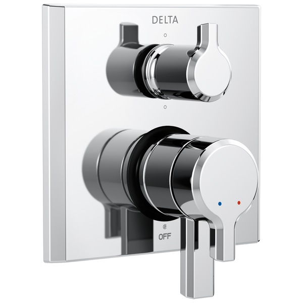 Delta Pivotal T27999 2-Handle Monitor 17 Series Valve Trim with 6-Setting Diverter Chrome-Showering Component-HomePlumbing