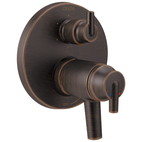 Delta Trinsic T27T959-RB Contemporary Two Handle TempAssure 17T Series Valve Trim with 6-Setting Integrated Diverter Venetian Bronze-Tub / Shower-HomePlumbing
