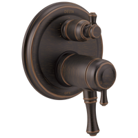 Delta Cassidy T27T997-RB Traditional 2-Handle TempAssure 17T Series Valve Trim with 6-Setting Integrated Diverter Venetian Bronze-Tub / Shower-HomePlumbing