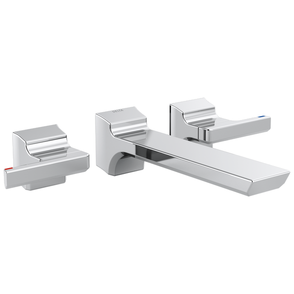 Delta Pivotal T3599LF-WL Two-Handle Wall Mount Bathroom Faucet Trim Chrome-Lavatory-HomePlumbing