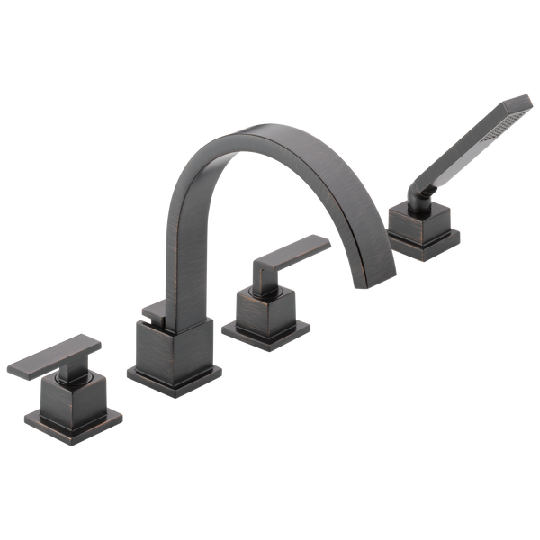 Delta Vero T4753-RB Roman Tub Trim with Hand Shower Venetian Bronze-Tub Filler-HomePlumbing