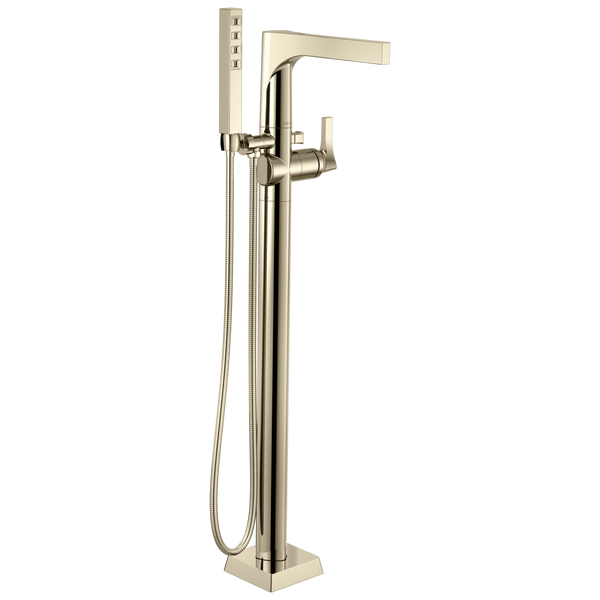 Delta Zura T4774-PNFL Floor Mount Tub Filler Trim Polished Nickel-Tub Filler-HomePlumbing