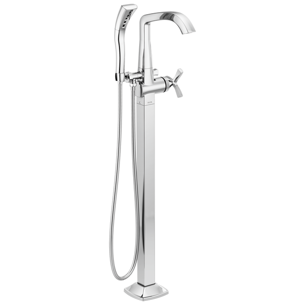 Delta Stryke T47766-FL Freestanding Tub Filler Trim Chrome-Tub Filler-HomePlumbing