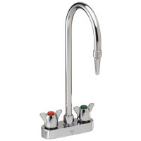Commercial W67 Series Mixing Faucet W6720 Two Handle 4 Inch Deck Mount Laboratory Mixing Faucet Chrome-Specialty-HomePlumbing