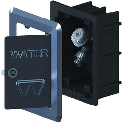 Woodford MB24-3/4 Faucet In Wall Box With Stainless Steel Door And Fascia