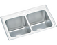 Elkay DLR3322103 Lustertone Classic Equal Double Bowl Drop-in Stainless Steel Sink