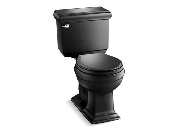 Kohler 3986-7 Memoirs Classic Comfort Height two-piece round-front 1.28 gpf toilet with AquaPiston flushing technology and left-hand trip lever, seat not included-Toilets-HomePlumbing
