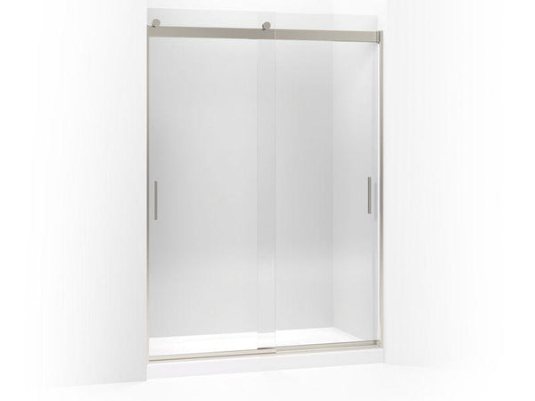 "Kohler 706383-L-NX Levity sliding shower door, 78"" H x 56-5/8"" - 59-5/8"" W, with 5/16"" thick Crystal Clear glass and blade handles-Shower Doors-HomePlumbing"