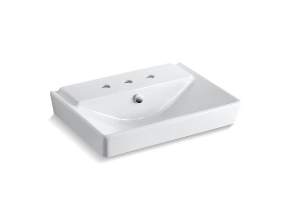 Kohler 5027-8-0 Rêve 23 pedestal bathroom sink basin with 8 widespread faucet holes-Bathroom Sinks-HomePlumbing