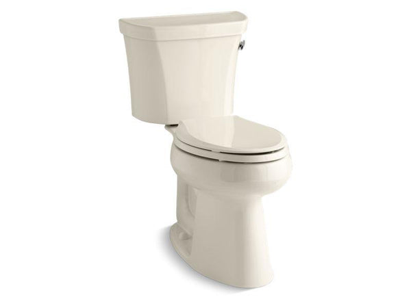 Kohler 3889-RZ-47 Highline® Comfort Height® two-piece elongated 1.28 gpf toilet with Class Five® flush technology, right-hand trip lever, Insuliner® tank liner and tank cover locks, seat not included-Toilets-HomePlumbing