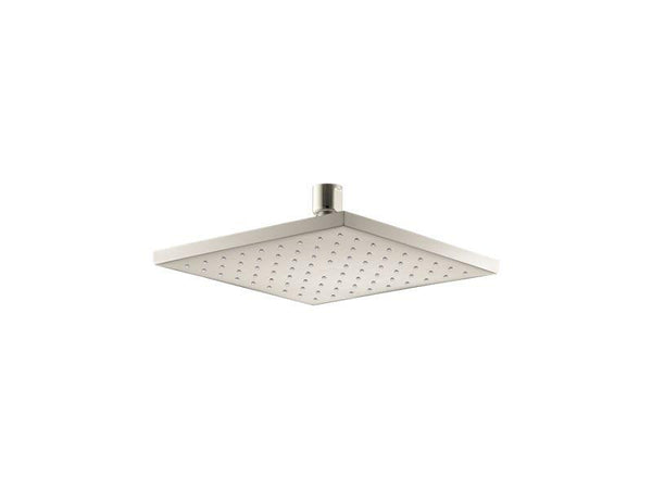 "Kohler 13695-G-SN Contemporary Square 8"" Contemporary Square 1.75 gpm rainhead with Katalyst air-induction technology-Rainheads-HomePlumbing"
