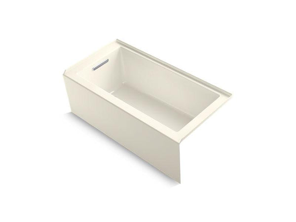 "Kohler 1956-LA-96 Underscore 60"" x 30"" alcove bath with integral apron, integral flange and left-hand drain-Bathing-HomePlumbing"