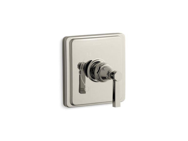 Kohler TS13135-4A-SN Pinstripe Pure Rite-Temp valve trim with lever handle-Handle Trim-HomePlumbing