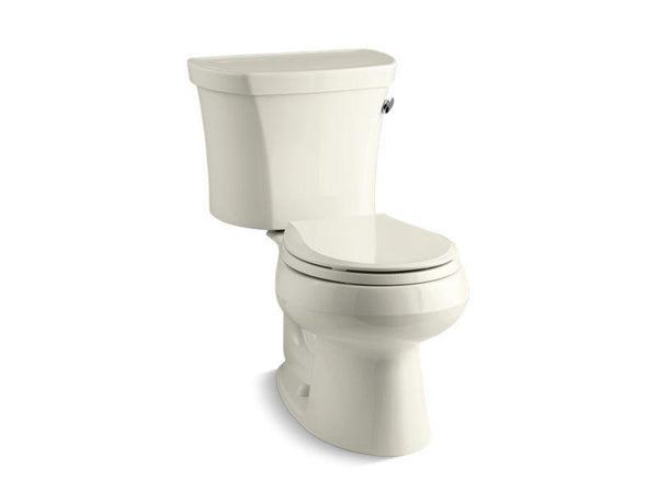 Kohler 3947-RA-96 Wellworth® two-piece round-front 1.28 gpf toilet with Class Five® flush technology and right-hand trip lever, seat not included-Toilets-HomePlumbing