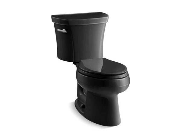 Kohler 3948-7 Wellworth two-piece elongated 1.28 gpf toilet with Class Five flush technology and left-hand trip lever-Toilets-HomePlumbing