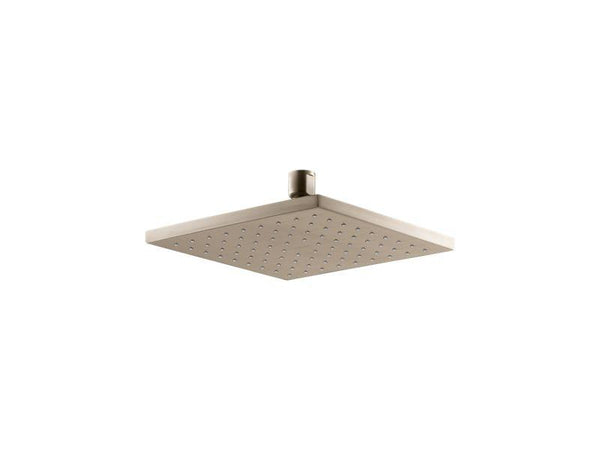 "Kohler 13695-G-BV Contemporary Square 8"" Contemporary Square 1.75 gpm rainhead with Katalyst air-induction technology-Rainheads-HomePlumbing"