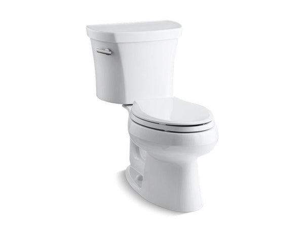 Kohler 3948-0 Wellworth two-piece elongated 1.28 gpf toilet with Class Five flush technology and left-hand trip lever-Toilets-HomePlumbing