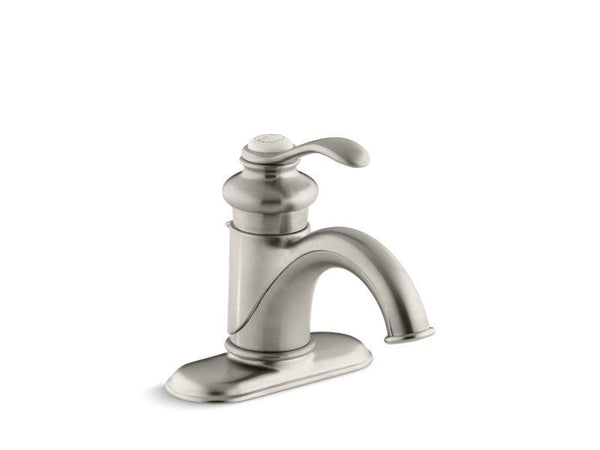 Kohler 12181-BN Fairfax® Centerset bathroom sink faucet with single lever handle-Sink Faucets-HomePlumbing