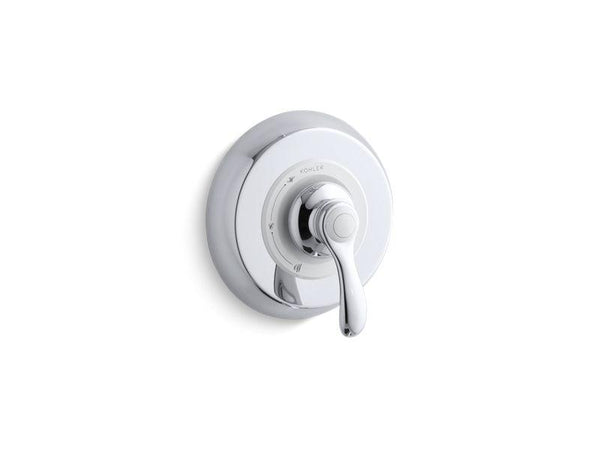 Kohler TS12021-4-CP Fairfax Rite-Temp valve trim with lever handle-Handle Trim-HomePlumbing