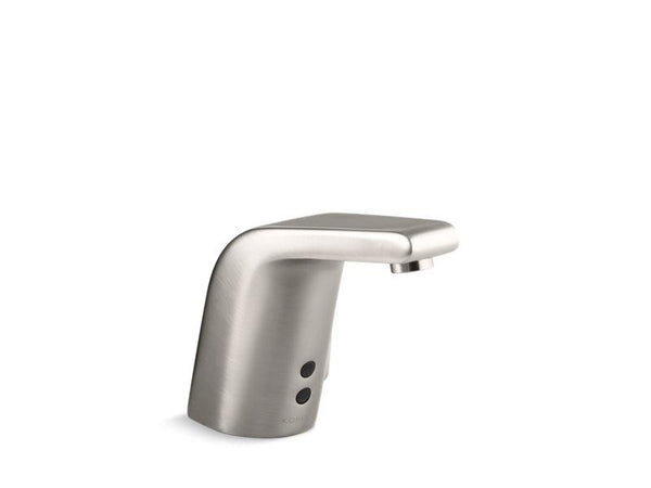 Kohler 7515-VS Sculpted single-hole Touchless(TM) hybrid energy cell-powered commercial bathroom sink faucet with Insight(TM) technology, temperature mixer and 5-3/4 spout-Commercial Faucets-HomePlumbing