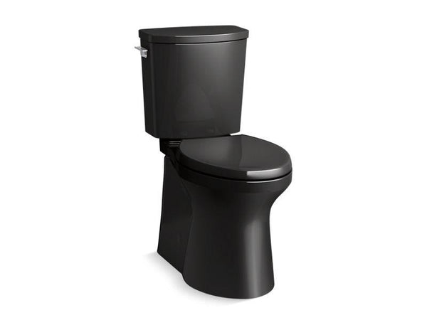 Kohler 20450-7 Irvine™ Comfort Height® two-piece elongated 1.28 gpf toilet with skirted trapway, Revolution 360® swirl flushing technology and left-hand trip lever, seat not included-Toilets-HomePlumbing
