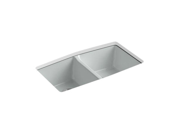 Kohler 5846-5U-95 Brookfield(TM) 33 x 22 x 9-5/8 under-mount double-equal kitchen sink-Kitchen Sinks-HomePlumbing