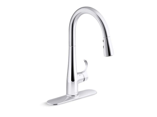 Kohler 22036-CP Simplice® touchless pull-down kitchen sink faucet
