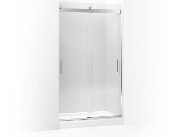 "Kohler 706375-L-SHP Levity sliding shower door, 78"" H x 44-5/8 - 47-5/8"" W, with 5/16"" thick Crystal Clear glass and blade handles-Shower Doors-HomePlumbing"