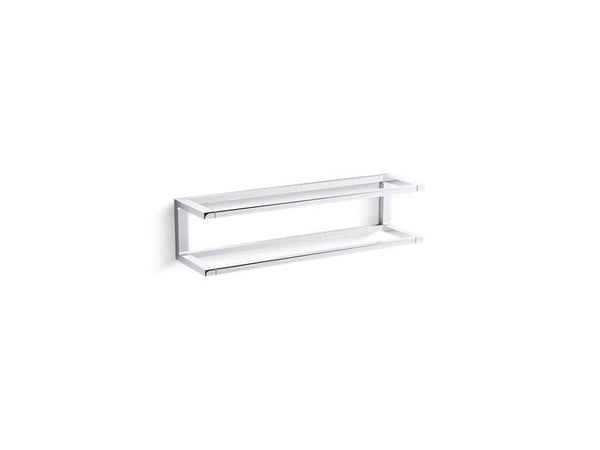 "Kohler 22561-CP Draft 18"" towel bar frame-Towel Bars-HomePlumbing"