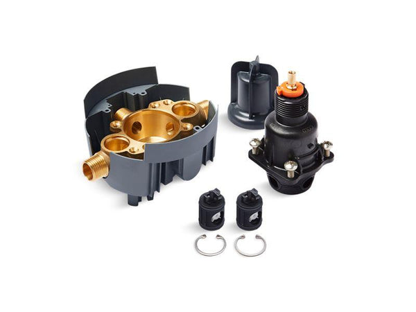 Kohler P8304-KSL-NA Rite-Temp pressure-balancing valve body and cartridge kit with service stops (supplied loose), project pack-Valves-HomePlumbing