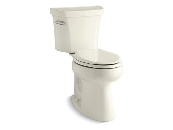 Kohler 3889-96 Highline® Comfort Height® two-piece elongated 1.28 gpf toilet with Class Five® flush technology and left-hand trip lever, seat not included-Toilets-HomePlumbing