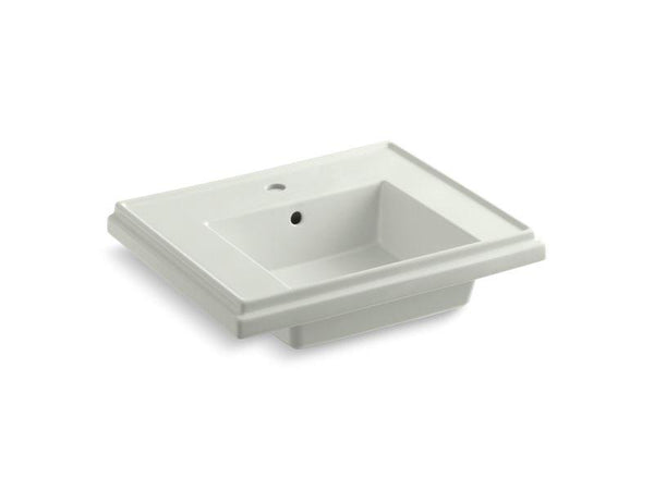 Kohler 2757-1-NY Tresham24 pedestal bathroom sink basin with single faucet hole-Lavatory Basins-HomePlumbing