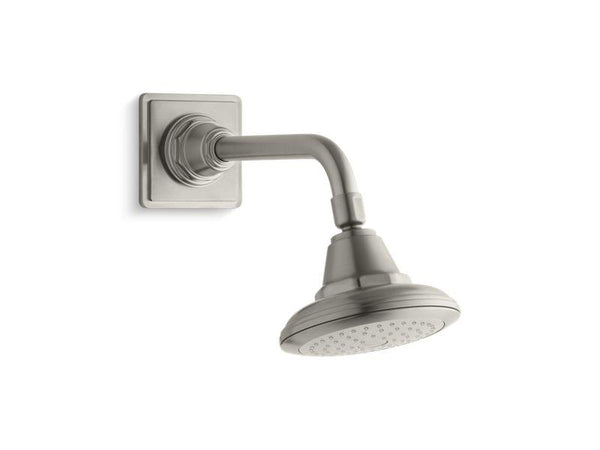 Kohler 13137-AK-BN Pinstripe® 2.5 gpm single-function showerhead with Katalyst® air-induction technology-Showerheads-HomePlumbing