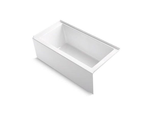 "Kohler 1956-RA-0 Underscore 60"" x 30"" alcove bath with integral apron, integral flange and right-hand drain-Bathing-HomePlumbing"