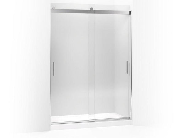 "Kohler 706383-L-SHP Levity sliding shower door, 78"" H x 56-5/8"" - 59-5/8"" W, with 5/16"" thick Crystal Clear glass and blade handles"
