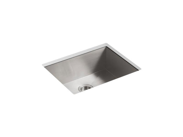 "Kohler 3822-NA Vault 24"" x 18-1/4"" x 9-3/8"" under-mount medium single-bowl kitchen sink with no faucet holes-Kitchen Sinks-HomePlumbing"