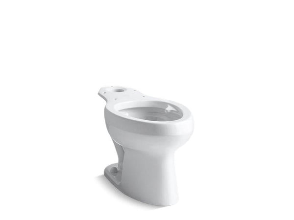 Kohler 4303-SSL-0 Wellworth toilet bowl with bedpan lugs and antimicrobial finish, less seat-Toilet Bowls-HomePlumbing