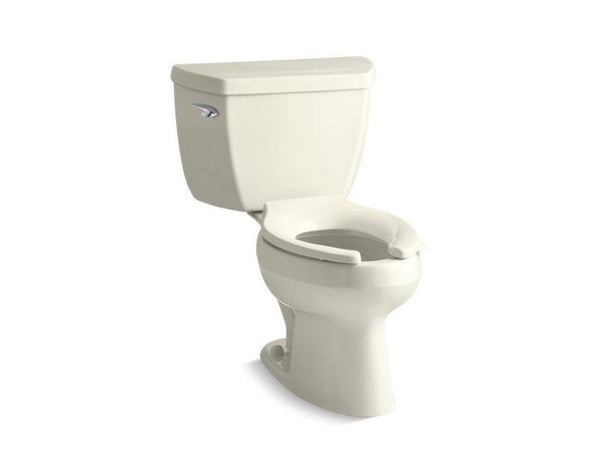 Kohler 3575-T-96 Wellworth® Classic two-piece elongated 1.28 gpf toilet with Class Five® flush technology, left-hand trip lever and tank cover locks, seat not included-Toilets-HomePlumbing