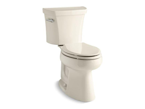 Kohler 3999-U-47 Highline® Comfort Height® two-piece elongated 1.28 gpf toilet with Class Five® flush technology, left-hand trip lever and Insuliner® tank liner, seat not included-Toilets-HomePlumbing