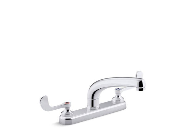 "Kohler 810T20-5AFA-CP Triton Bowe 1.8 gpm kitchen sink faucet with 8-3/16"" swing spout, aerated flow and wristblade handles-Commercial Faucets-HomePlumbing"