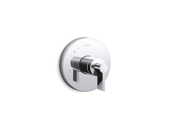 Kohler TS78015-4-CP Components Rite-Temp shower valve trim with Lever handle-Shower Trim-HomePlumbing