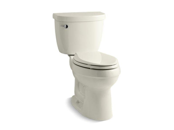 Kohler 3609-U-96 Cimarron® Comfort Height® two-piece elongated 1.28 gpf toilet with AquaPiston® flushing technology, left-hand trip lever and Insuliner® tank liner, seat not included-Toilets-HomePlumbing