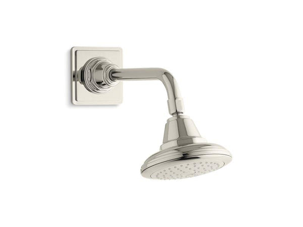Kohler 13137-AK-SN Pinstripe® 2.5 gpm single-function showerhead with Katalyst® air-induction technology-Showerheads-HomePlumbing