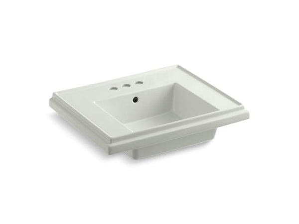 Kohler 2757-4-NY Tresham24 pedestal bathroom sink basin with 4 centerset faucet holes-Lavatory Basins-HomePlumbing