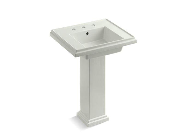 Kohler 2844-8-NY Tresham 24 pedestal bathroom sink with 8 widespread faucet holes-Bathroom Sinks-HomePlumbing
