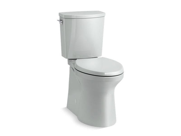 Kohler 20450-95 Irvine™ Comfort Height® two-piece elongated 1.28 gpf toilet with skirted trapway, Revolution 360® swirl flushing technology and left-hand trip lever, seat not included - HomePlumbing