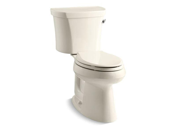 Kohler 3949-UR-47 Highline® Comfort Height® two-piece elongated 1.28 gpf toilet with Class Five® flush technology, right-hand trip lever and Insuliner® tank liner, seat not included-Toilets-HomePlumbing