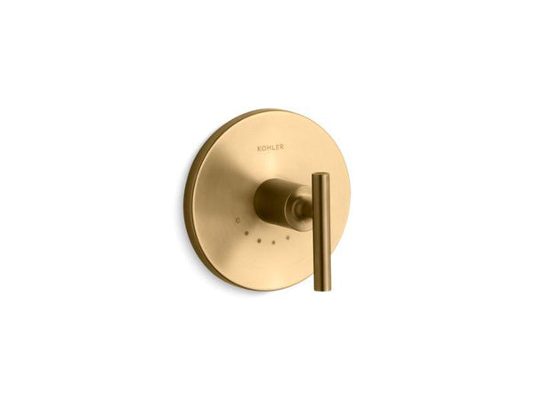 Kohler T14488-4-BGD Purist valve trim with lever handle for thermostatic valve, requires valve-Handle Trim-HomePlumbing