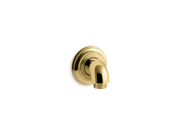 Kohler 22173-PB Bancroft wall-mount supply elbow with check valve-Shower Fittings-HomePlumbing